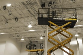 Scissor Lift for Electrical Lighting Installation